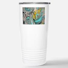 Modern Art in turquoise Stainless Steel Travel Mug