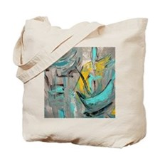 Modern Art in turquoise Tote Bag
