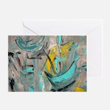 Modern Art in turquoise Greeting Card