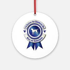 Showing Bleu Ornament (Round)