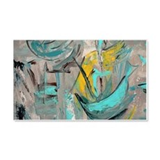 Modern Art in turquoise Decal Wall Sticker
