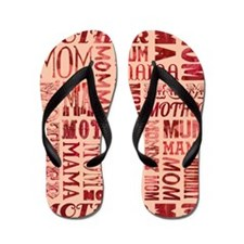 Mothers Day Typography Pattern Flip Flops