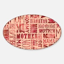 Mothers Day Typography Pattern Decal