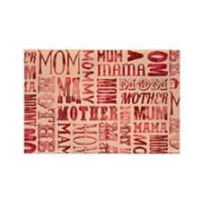 Mothers Day Typography Pattern Magnets