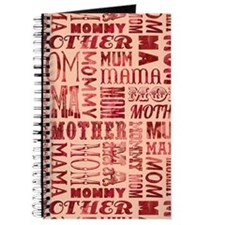 Mothers Day Typography Pattern Journal