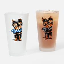 Baby Blue Yorkie Drinking Glass