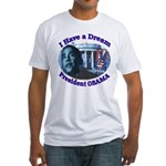 I HAVE A DREAM, PRESIDENT OBAMA Fitted T-Shirt