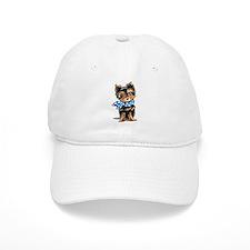 Baby Blue Yorkie Baseball Baseball Cap