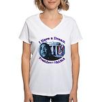 I HAVE A DREAM, PRESIDENT OBAMA Women's V-Neck T-S