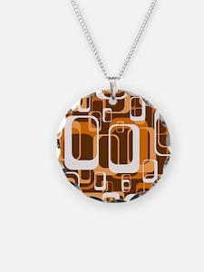 retro pattern 1971 orange Necklace