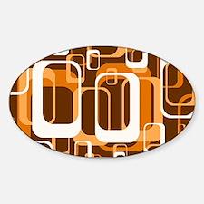 retro pattern 1971 orange Decal