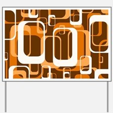 retro pattern 1971 orange Yard Sign