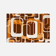 retro pattern 1971 orange Magnets