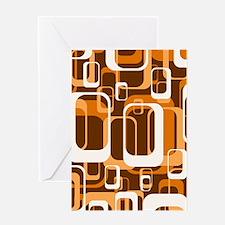 retro pattern 1971 orange Greeting Cards