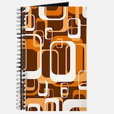retro pattern 1971 orange Journal