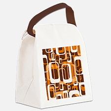 retro pattern 1971 orange Canvas Lunch Bag