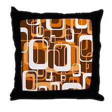 retro pattern 1971 orange Throw Pillow