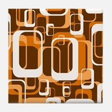 retro pattern 1971 orange Tile Coaster