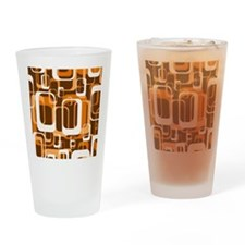 retro pattern 1971 orange Drinking Glass