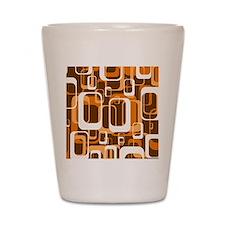 retro pattern 1971 orange Shot Glass
