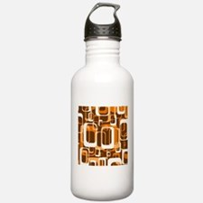 retro pattern 1971 orange Water Bottle