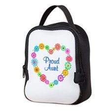 Proud Aunt Heart Neoprene Lunch Bag