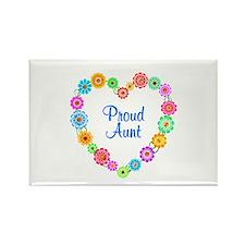 Proud Aunt Heart Rectangle Magnet