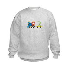 2 Year Old Train Birthday Sweatshirt