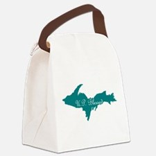 U.P. Blessed on Teal U.P. Canvas Lunch Bag