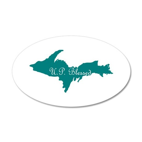 U.P. Blessed on Teal U.P. Wall Decal