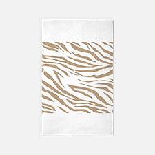 Cream Zebra Print 3'x5' Area Rug