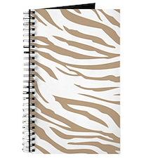 Cream Zebra Print Journal