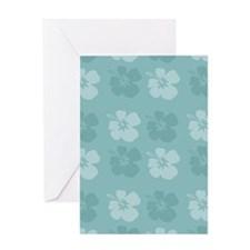 Blue Hibiscus Flowers Greeting Cards