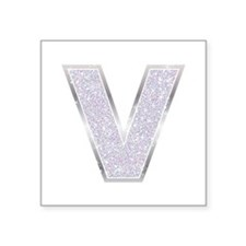 Sparkle Letter V Sticker