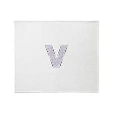Sparkle Letter V Throw Blanket