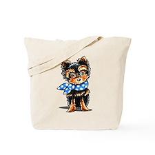 Baby Blue Yorkie Tote Bag
