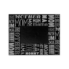 Mother Typography Pattern Picture Frame