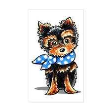 Baby Blue Yorkie Decal