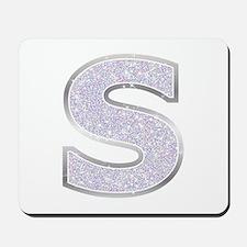 Sparkle Letter S Mousepad