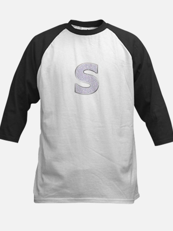 Sparkle Letter S Baseball Jersey