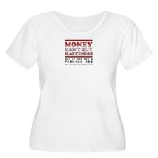 Fishing is Happiness Fisherman Anglers Plus Size T