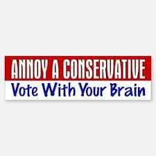 AAC Vote With Your Brain Bumper Bumper Bumper Sticker