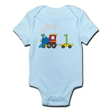 1 Year Old Train Birthday Body Suit