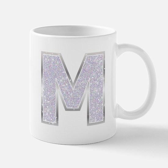 Sparkle Letter M Mugs