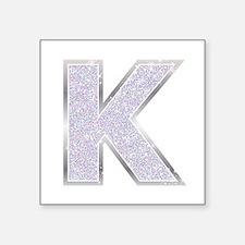 Sparkle Letter K Sticker