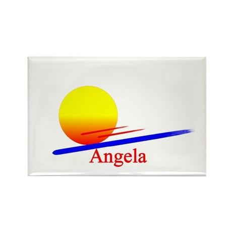 Angela Rectangle Magnet (100 pack)