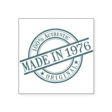 "Made in 1976 Square Sticker 3"" x 3"""