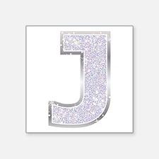 Sparkle Letter J Sticker