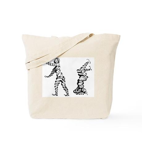 Breakdancing Mummies Tote Bag