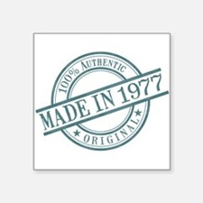 "Made in 1977 Square Sticker 3"" x 3"""